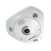 Hikvision® DS-2CD6362F-IVS Wired Fish-Eye Outdoor Network Camera, Day & Night, White