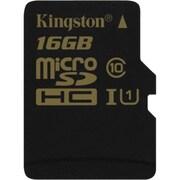 Kingston® Class 10/UHS-I microSDHC Flash Memory Card, 16GB (SDCA10/16GBSP)
