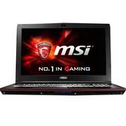 """msi® GP62MVR Leopard Pro 4K-463 15.6"""" Notebook, LCD, Core i7-7700HQ, 1TB HDD/256GB SSD, 16GB RAM, WIN 10 Home, Black"""