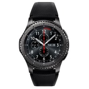 Samsung Gear S3 Frontier Silicone/Stainless Steel Smart Watch, Dark Gray (SSM-R760NDAAXAR)