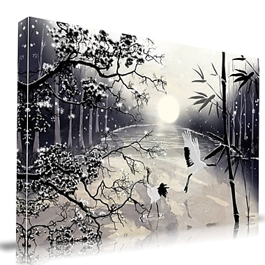 Maxwell Dickson Two Cranes Graphic Art on Wrapped Canvas; 20'' H x 30'' W
