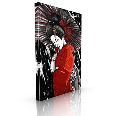 Maxwell Dickson Geisha Painting Print on Wrapped Canvas; 24'' H x 18'' W