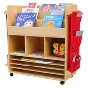A+ Child Supply Big 3 Compartment Book Display w/ Bins