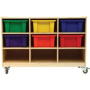 A+ Child Supply 9 Compartment Cubby w/ Casters
