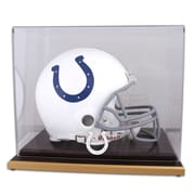 Mounted Memories NFL Wood Base Helmet Logo Display Case; Indianapolis Colts