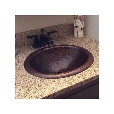 Premier Copper Products Oval Self Rimming Bathroom Sink
