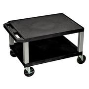Offex Tuffy 2 Shelf Utility Cart; Gray