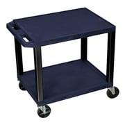 Offex Tuffy 2 Shelf Utility Cart; Navy Blue