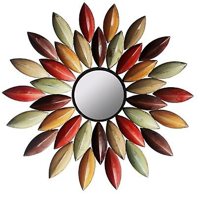 Hazelwood Home Metallic Petal Wall Mirror