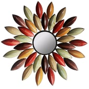 Hazelwood Home Metallic Petal Wall Mirror