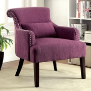 Hokku Designs Marlow Arm Chair; Purple