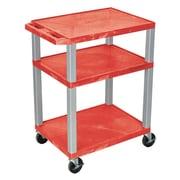 Offex Tuffy 3 Shelf Utility Cart; Red