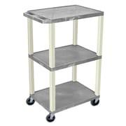 Offex Tuffy 3 Shelf Utility Cart; Gray