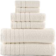 Lunasidus Vanessa 100pct Genuine Turkish Combed Cotton 700 Gram 6 Piece Towel Set; Ivory