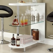 Hokku Designs Holla Lacquer Bar w/ Wine Storage; White