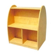 A+ Child Supply Toddler Arch 2 Compartment Book Display w/ Casters