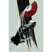 Maxwell Dickson ''Fan Dancer'' Graphic Art on Wrapped Canvas; 24'' H x 36'' W