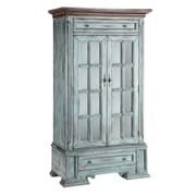 Stein World Painted Treasures 2 Drawer Moonstone Tall Cabinet