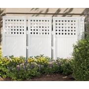 Suncast 4 Panel Outdoor Screen; White