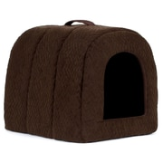 Best Friends By Sheri Igloo in Flex Cat Bed; Dark Chocolate by
