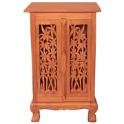 EXP D cor Acacia 2 Door Storage Cabinet; Natural