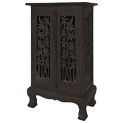 EXP D cor Acacia 2 Door Storage Cabinet; Rich Dark