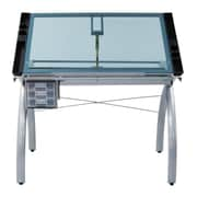 Offex Futura Glass Drafting Table