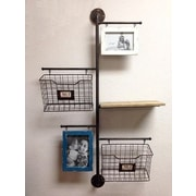 Wilco Home Store It Metal 2-Basket Wall File Organizer w/ 2 Photo Frame