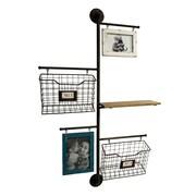 Wilco Home Store It Metal 2-Basket Wall File Organizer w/ 2 Photo Frame