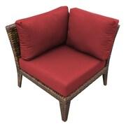 TK Classics Manhattan Deep Seating Chair w/ Cushions; Terracotta