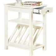Hokku Designs Waldon 1 Drawer End Table; White