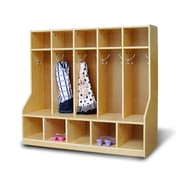A+ Child Supply 3 Tier 5 Wide Coat Lockers; 5 Sections