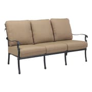 Darlee Florence 8 Piece Deep Seating Group w/ Cushions; Antique Bronze