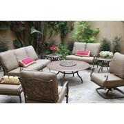 Darlee Florence 8 Piece Deep Seating Group w/ Cushions; Mocha