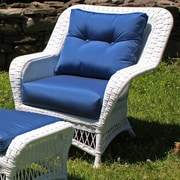 ElanaMar Designs Princeton Outdoor Chair w/ Cushions; Spectrum Graphite