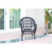 Jeco Inc. Wicker Armchair Chair (Set of 4); Espresso