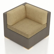 Harmonia Living Element Corner Section Chair w/ Cushion; Heather Beige