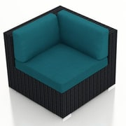 Harmonia Living Urbana Corner Section Chair w/ Cushion; Spectrum Peacock