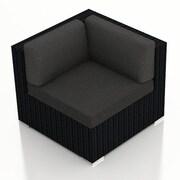 Harmonia Living Urbana Corner Section Chair w/ Cushion; Canvas Charcoal