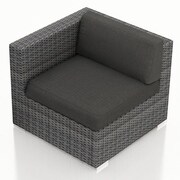 Harmonia Living District Left Arm Section Chair w/ Cushion; Canvas Charcoal