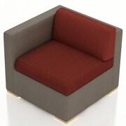 Harmonia Living Element Left Arm Section Chair w/ Cushion; Canvas Henna