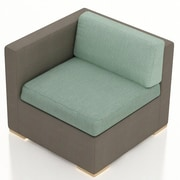 Harmonia Living Element Left Arm Section Chair w/ Cushion; Canvas Spa