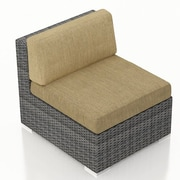 Harmonia Living District Middle Section Chair w/ Cushion; Heather Beige