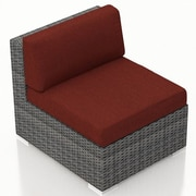Harmonia Living District Middle Section Chair w/ Cushion; Canvas Henna