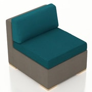 Harmonia Living Element Middle Section Chair w/ Cushion; Spectrum Peacock