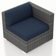 Harmonia Living District Right Arm Section Chair w/ Cushion; Spectrum Indigo