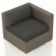 Harmonia Living Element Right Arm Section Chair w/ Cushion; Canvas Charcoal