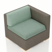 Harmonia Living Element Right Arm Section Chair w/ Cushion; Canvas Spa