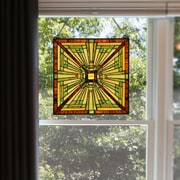 River of Goods Craftsman of the Forest Stained Glass Square Window Panel