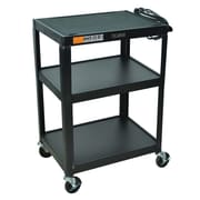 Offex Steel Fixed Height AV Cart; 31'' H x 25'' W x 19'' D